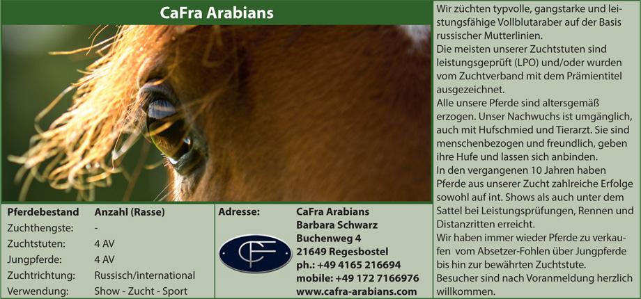 Cafra Arabians, Barbara Schwarz