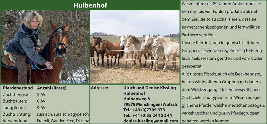 Gestüt Hulbenhof, Denise Kissling