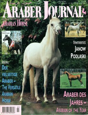"Mahari als ""Cover Girl"" vom Araber Journal 3/1997. Foto: Carola Toischel"