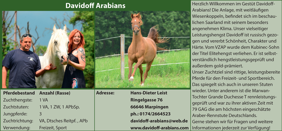 Davidoff Arabians - Familie Leist