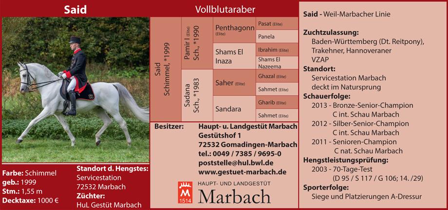 Gestüt Marbach - Said