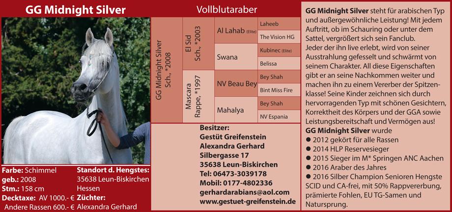 Gerstüt Greifenstein - GG Midnight Silver