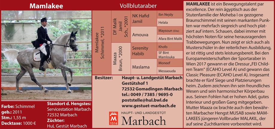 Gestüt Marbach - Mamlakee