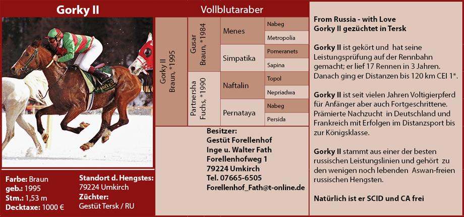 Gestüt Forellenhof - Gorky II