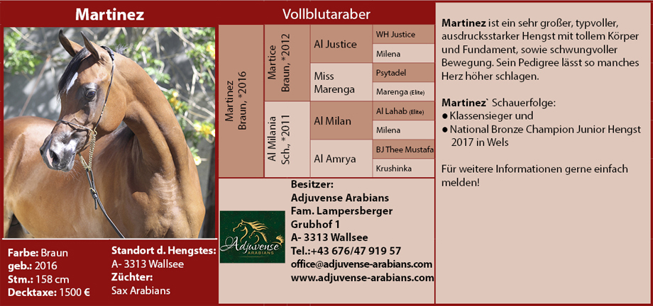 Adjuvense Arabians - Martinez